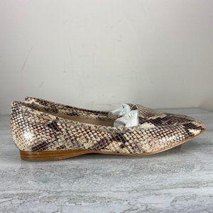 Joan & David Luxe Snake Print Flats